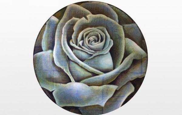 Spiral Round Rose (Blue)
