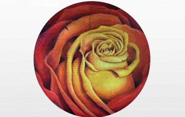 Spiral Round Rose (FIRE)