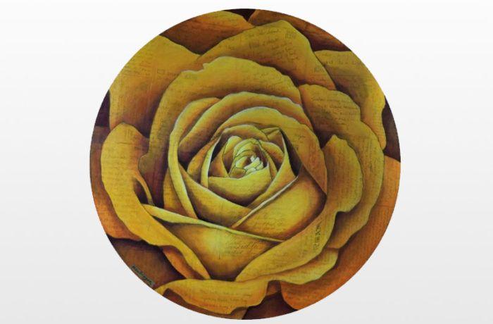 Spiral Round Rose (Orange)