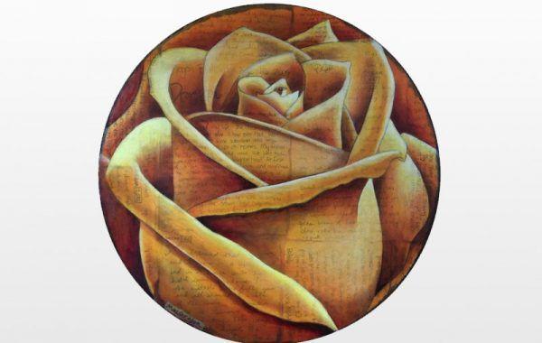Spiral Round Rose (Red)